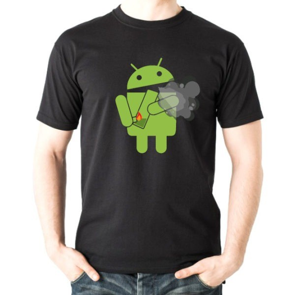 android marijuana t-shirt