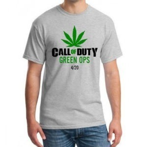 call of duty marijuana t-shirt