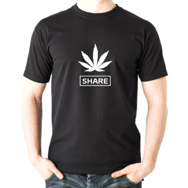 share cannabis t-shirt